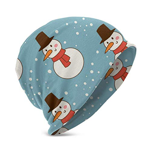 Unisex Beanie Hat Warm and Cozy Snowman Cold Christmas Season Winter 3D Kids Fashion Beanie Caps Suitable For Children Aged 3-15