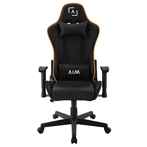 AIM silla gaming profesional, iluminacion DNA RGB, reclinable 180º