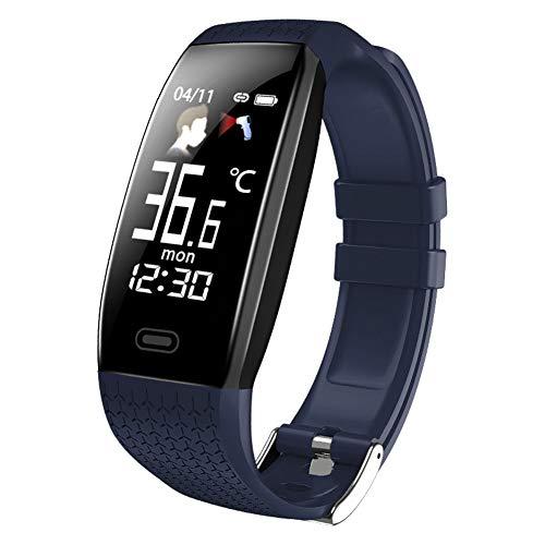 IUANUG Zzz Sportuhr Touchscreen Fitnessuhr Fitness Armbanduhr Schrittzähler Uhr mit Pulsmesser Schlafmonitor Smart Watch für Damen Herren für,Blau