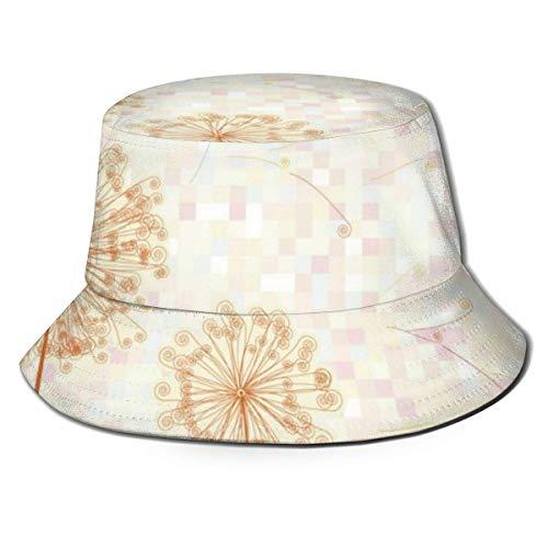 Gorras Sombrero de Pescador de Diente de león Colorido Abstracto Sombrero de Sol de ala Ancha para Hombres Mujeres Adolescentes Camping al Aire Libre Senderismo Pesca