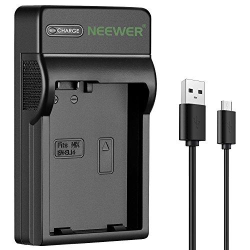 Neewer Cargador de Batería Micro USB para Rápido Nikon EN-EL14 EN-EL14a Nikon D3200 D3100 D5500 D5300 D5200 D5100 D3300 DF DSLR Coolpix P7800 P7700 P7000