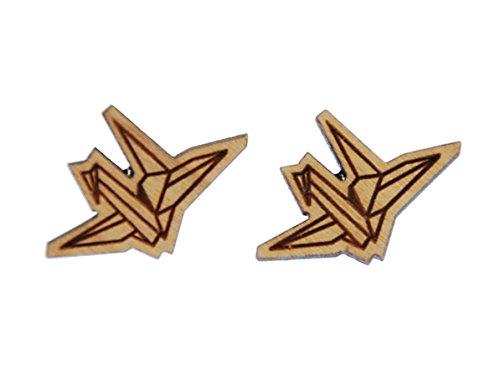 Aretes Miniblings La grúa de papel origami estudios pendientesde cisne pajaro de- pendientes joyería de moda hechos a mano tapo pendientes