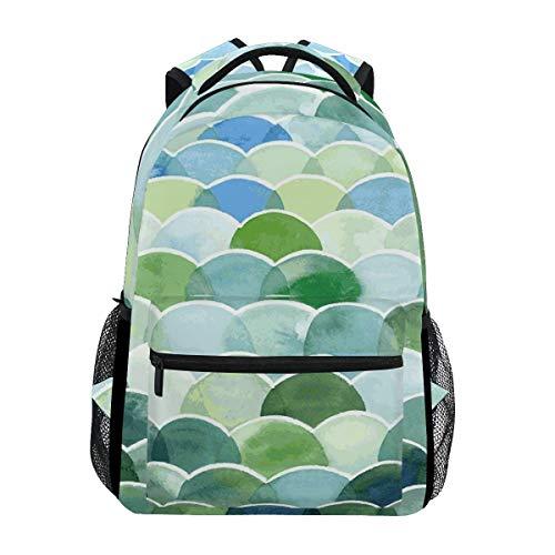 Boy School Book Bag,College Backbag,Kids/Adult Laptop Backpack,Unisex Multifunction Rucksack,Men/Women Travel Knapsack,Girl Casual Daypack,Colorful Mermaid Scales