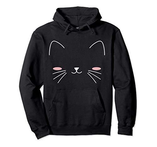 Regalo de Halloween de cara de gato para niñas, niños Sudadera con Capucha
