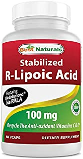 Best Naturals Stabilized R-Lipoic Acid Capsule, 100 mg, 60 Count