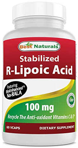 Price comparison product image Best Naturals Stabilized R-Lipoic Acid Capsule,  100 mg,  60 Count