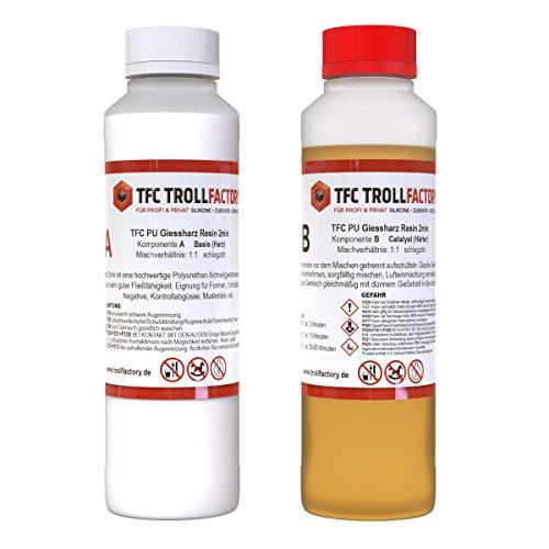 TFC PU Giessharz Resin 2 Min. I Zweikomponenten-Giessmasse, beige I dünnflüssig, 1 kg (2 x 500 g)