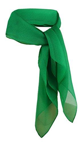 TigerTie Damen Chiffon Nickituch grün leuchtgrün uni - Gr. 50 x 50 cm - Halstuch