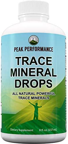 Organic Trace Minerals Liquid Drops for Water Ionic Plant Based Fulvic Trace Mineral Drop Supplement product image