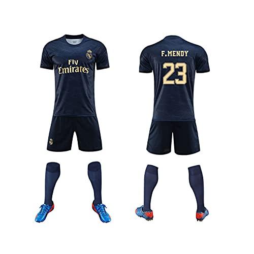 GAOjie Camisetas de fútbol para hombre, camiseta + pantalones cortos + calcetines, camiseta con estampado Rěǎī-Mǎdrid2 ropa de entrenamiento, uniforme de fútbol para niños y adultos Niños /