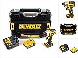 DeWalt DCF 887 P1 - Avvitatore a percussione a batteria, 18 V, 205 Nm, senza spazzole + 1 batteria da 5,0 Ah + caricatore + TSTAK