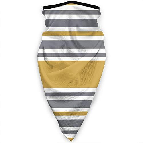 Huapart Halsmanschette Staub Sonnenschutz Gesichtsschutz Sturmhaube Gesichtsmaske Senf gelb und grau gestreift