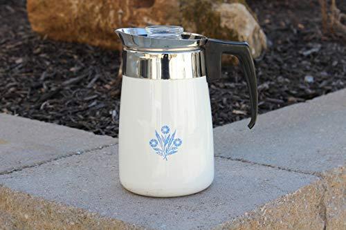 Corning Ware Blue Cornflower 6 Cup Stovetop Coffeepot Percolator