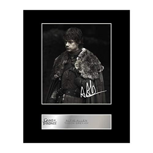 Alfie Allen firmado foto enmarcada Theon Greyjoy–Juego de Tronos