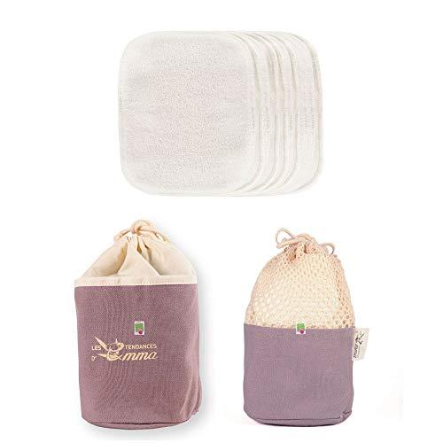 Kit Eco Belle Trousse Carrés démaquillants coton bio biface