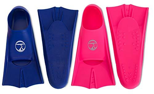 SWIMXWIN pinnette Corte da Allenamento Nuoto Piscina Gomma Morbida Resistente (Blu, 41/43)