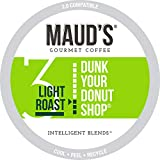 Maud's Donut Shop Coffee (Dunk Your Donut Shop), 100ct. Solar Energy Produced Recyclable Single Serve Light Roast Donut Shop Coffee Pods - 100% Arabica Coffee California Roasted, KCup Compatible