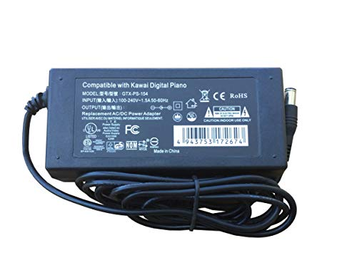 AC Adapter - Replacement Power Supply for Kawai CN35 Digital Piano CN-35