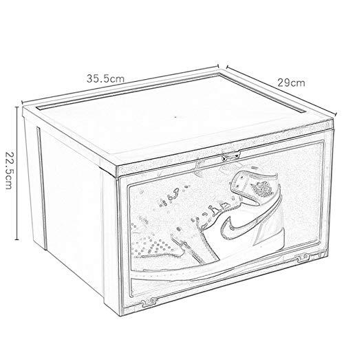 Ganeep Shoe Closet Side Opening Eindickung Kunststoff Schuhe Organizer Bid Farewell Messy Dorm Room Snow Boots Boxen staubdicht Wasser-Beweis-Sammlung Artifact (4 Stück) (Color : Schwarz)