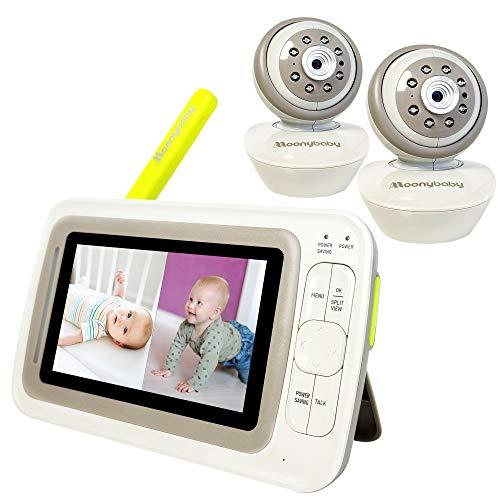 Moonybaby Split 60 Video Baby Monitor 2 Cameras, Split Screen, Pan Tilt Zoom,...