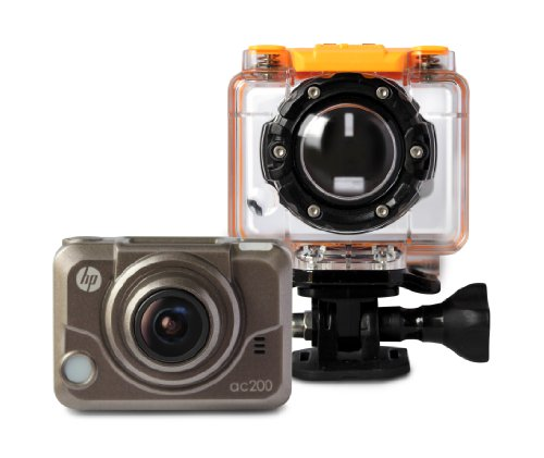 HP 0.83-Inch Action Cam ac200 Waterproof Video Camera with OLED (Grey)