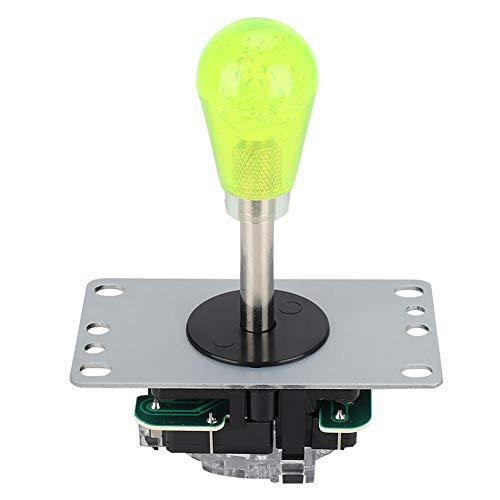 Demeras Kit de Accesorios de Joystick de Alta sensibilidad para Superficie de Tablero de Fuego, Carcasa de Cristal acrílico para Juegos en casa de Lucha Arcade(Yellow)