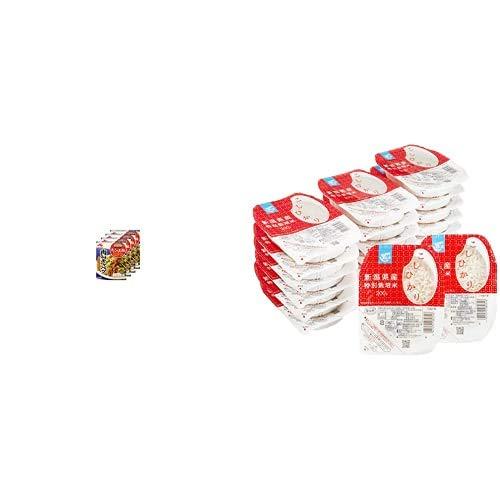 味の素 Cook Do きょうの大皿 肉みそキャベツ用 100g×4個 + Happy Belly パックご飯 新潟県産こしひかり 200g×20個(白米) 特別栽培米