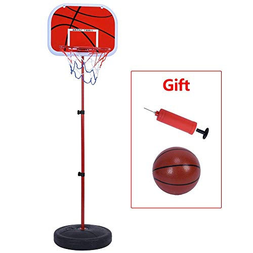 IRIS Basketball Stand, Free Stand Height Adjustable Backboard Hoop Kit with Pump Ball and Mounting Accessories Toy Set for Children Indoor Outdoor