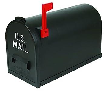 Flambeau T-R7001BL Classic Mailbox Rural Style Black