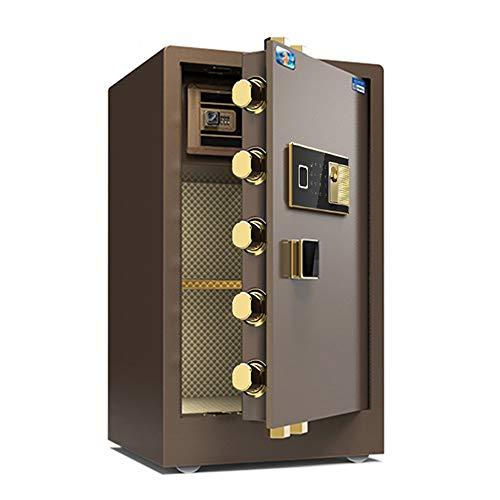 jklj Pequeña Caja Fuerte Robusta Digital Electronic Safe Security Box for Home Office, Gabinete Caja Fuerte con el Teclado para el Dinero de la joyería. (Color : Coffee, Size : 48x42x80cm)