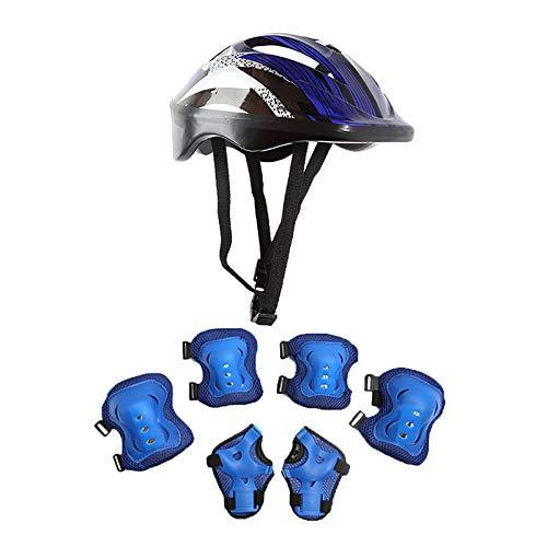 MAWOLY Kinderschutzhelm Knie-Ellbogenschützer Skating-Schutzausrüstung für Kinder Radsport-Skate-Bike-Schutz/7Pcs Set-M08