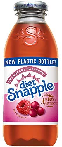 Diet Snapple Cranberry Raspberry, 16 fl oz (12 Plastic Bottles)