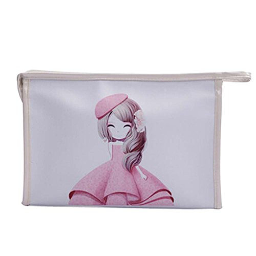 Flower Girls Cosmetic Containers couleur blanche PU Sacs cosmétiques