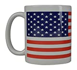 Best Coffee Mug USA Old Glory Flag American Patriot Novelty Cup Great Gift Idea For Men Dad Father Husband Military Veteran Conservative (Old Glory)
