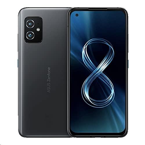 Asus Zenfone 8 Dual-SIM 256GB ROM + 8GB RAM desbloqueado por fábrica 5G Smartphone (negro obsidiana) - Versión internacional
