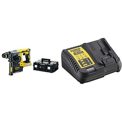 DeWalt DCH273NT-XJ - Combinación inalámbrico Martillo 18V SDS-Plus + DCB115-QW - Cargador XR para baterias de 10,8V - 14,4V - 18V carril Li-Ion