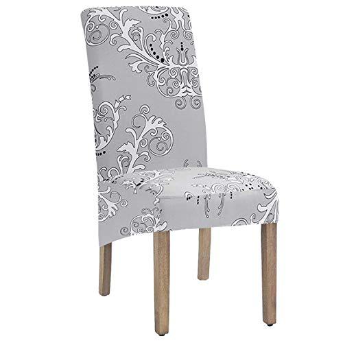 SYJ - Fundas elásticas de Tela con Estampado XL para sillas de Comedor, 2/4/6 Piezas, Fundas elásticas Grandes para sillas para Comedor, Bodas, Banquetes, Fiestas, decoración (Color-4,6 Pack)
