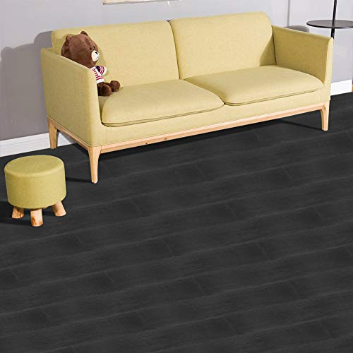 Euroharry PVC Vinyl-Bodenbelag Laminat Dielen 2mm Vinylboden Designboden Fußböden 1m² Wasserfest/Rutschfest (V1 Eiche Dunkel)