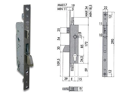 Elec emb metal 25mm pic+pal+a//b it Cisa 1.16225.25.0
