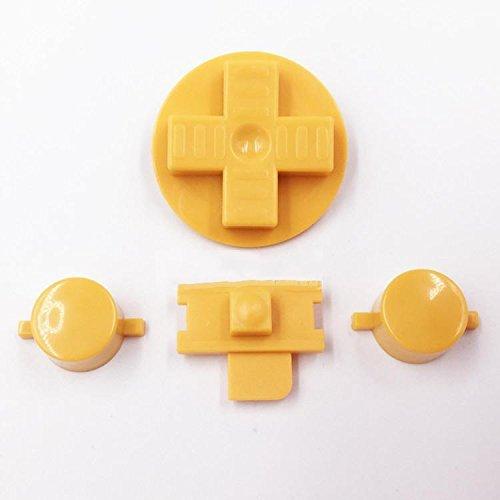 Repuesto de Botones AB para teclados Dpads Power Buttons para Gameboy GB Classic Original DMG-01 (Amarillo)