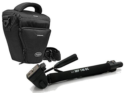 Foto camera tas set colt houder met inpoot reis statief incl. statieftas voor Canon EOS 1300D 760D 750D 700D 80D Nikon D7200 D610 D500 D5500 D5300 D3300 D3200 Sony Alpha