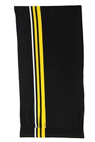 Rotfuchs Écharpe en tricot Écharpe à rayures raschelschal à la mode noir jaune blanc100% polyacrylique