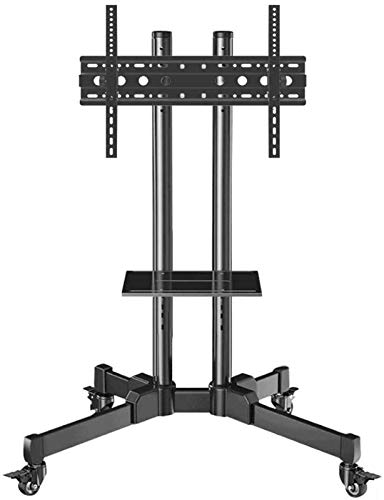 MU Mesa Giratoria Tv Tv Stock Stand de Tv de Acero Inoxidable Soporte de Piso de Tv para 50 86 Pulgadas Tv Tv Black Tv Poisents Up,Estilo # 2