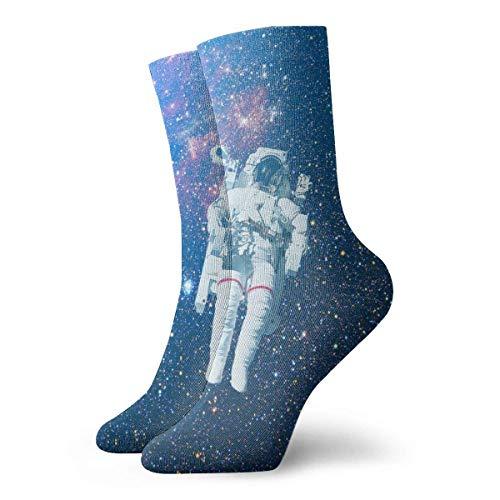Love girl Calcetines unisex para hombre Astronauta Space Fashion Novedad Calcetines deportivos secos Medias 30cm