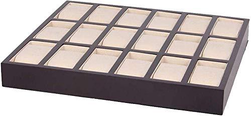 HJ Caja de reloj para el hogar Cajas de joyería Hombre Mujer Regalo Bandeja de almacenamiento de exhibición de madera de 18 bits pintada 34.5 * 29.5 * 3.7Cm