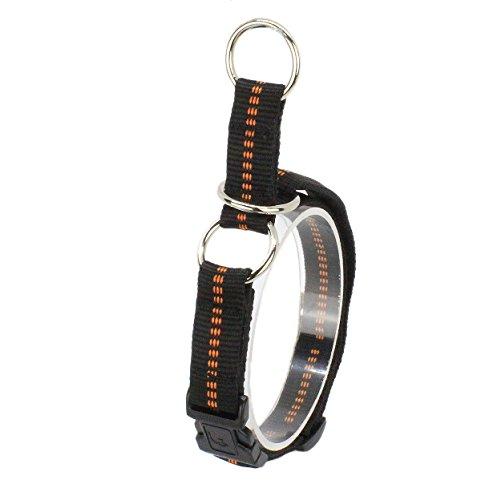 Ernst Koch G3322020 Nylon-Zughalsband mit Begrenzung und Klickverschluss  gepolstert, S, schwarz