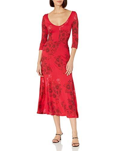 Desigual Vest_YESS Vestido Casual, Rojo, L para Mujer