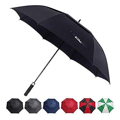 ACEIken Golf Umbrella Windproof Large 62 Inch, Double Canopy Vented, Automatic Open, Extra Large Oversized,Sun Protection Ultra Rain & Wind Resistant Stick Umbrellas (Black)