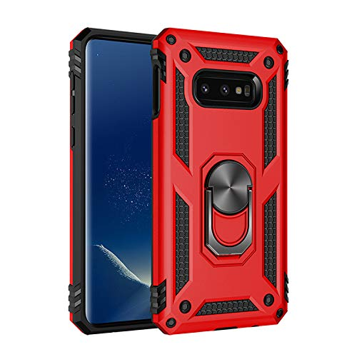 Military Grade Drop Impact for Samsung Galaxy Note 8 Case 360 Metal Rotating Ring Kickstand Holder Built-in Magnetic Car Mount Armor Shockproof Cover for Galaxy Note 8 Protection Case (Red)