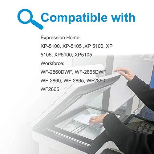 Teland - Cartuchos de tinta compatibles con Epson 502 502XL para Epson Expression Home XP-5100 XP-5105, Workforce WF-2860DWF WF-2865DWF WF-2860 WF-2865 5 (2 negro, 1 cian, 1 magenta, 1 amarillo)
